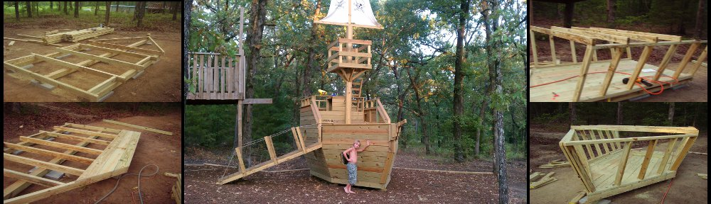 pirate ship playhouse building plans