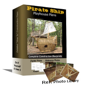 10'x6' Small Pirate Ship Plans & Ref Photos